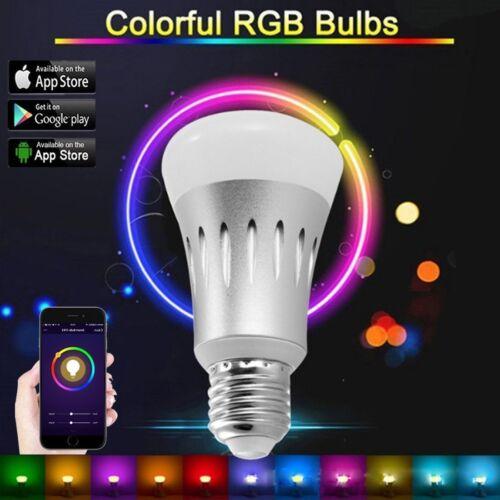 RGB 7W E27 Wifi Smart LED Light Bulb for Amazon Alexa Google Home Remote Control