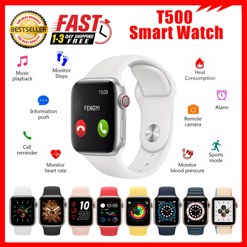 T500 Fitness Smart Watch for Android iPhone iOS Samsung Bluetooth Sport Watch US