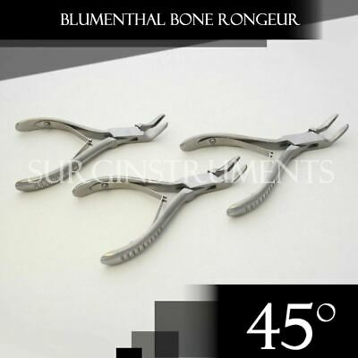 3 Pieces Of Blumenthal Bone Rongeur 45 Degree 6 Surgical Dental Instruments