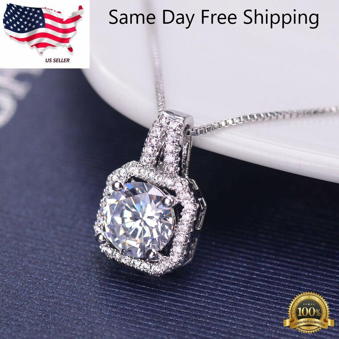 Jewellery - Fashion Women Pendant Crystal Choker Chunky Statement Chain Bib Necklace Jewelry