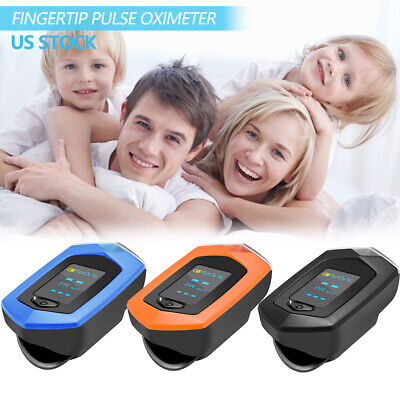 Rechargeable Fingertip Pulse Oximeter Spo2 Pr Heart Rate Blood Oxygen Monitor