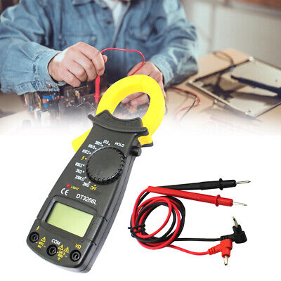 Lcd Digital Multimeter Clamp Dcac Current Ohm Voltage Resistance Meter Tester