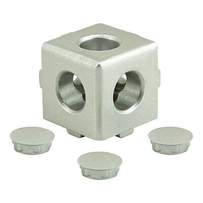 8020 Inc T-slot Aluminum 3 Way Light Squared Connector 10 25 Series 14135 N