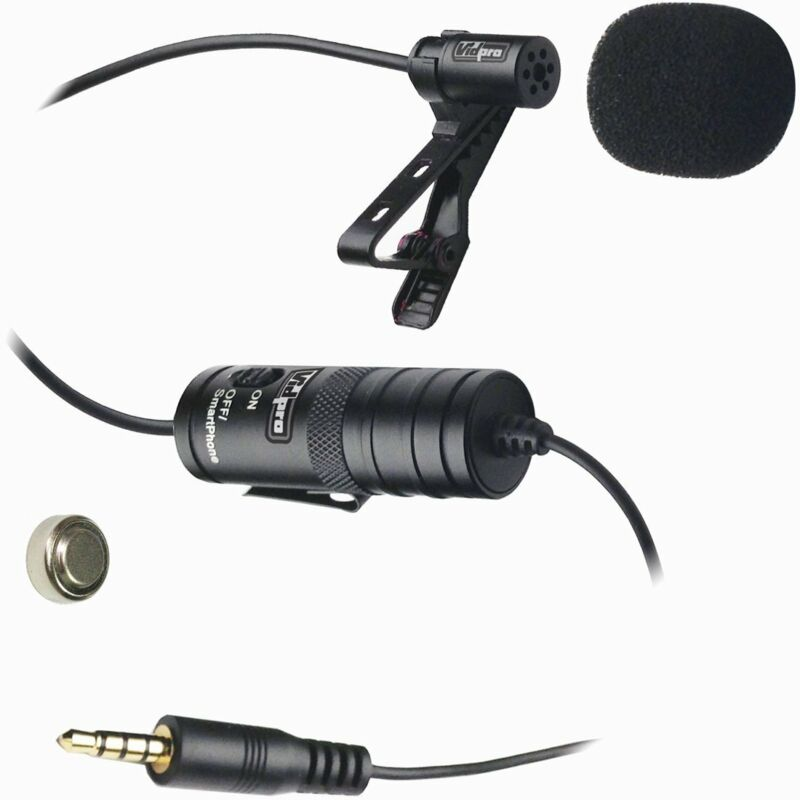 Vidpro XM-L Professional Lavalier Condenser Microphone for Cameras and Cellphone