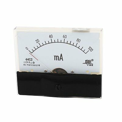 1pcs Fine Turning Dial Dc 0-100ma Analog Ammeter Panel Meter 44c2 New