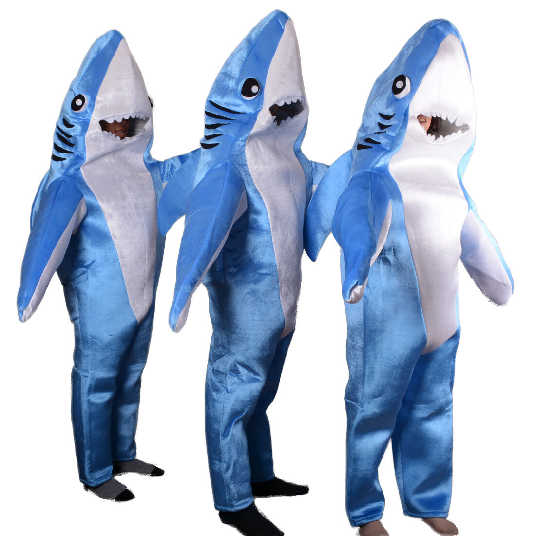 Adult Animal Jumpsuit Shark Costume Halloween Party Mascot Cosplay Fancy Dress