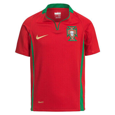 Portugal Nike Football Kids Home Shirt Red Childrens Short Sleeve Age 6-8 Years