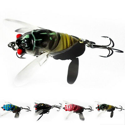 1pcs Cicada Bass Insect Fishing Lures 4cm Crank Bait Floating Tackle
