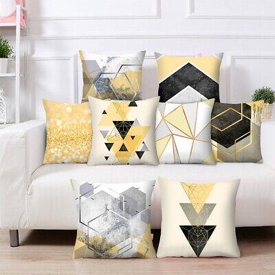 Scandi Boho Geometric Cushion Cover Yellow and Grey Sofa Pillowcase Home Decor](Grey And Yellow Decor)