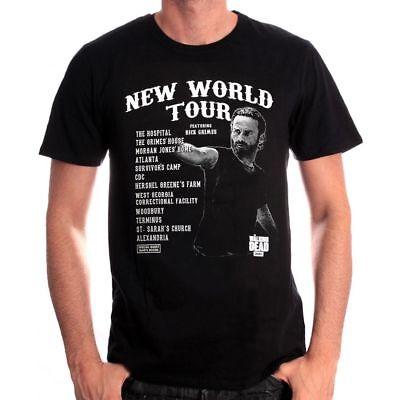 """The Walking Dead T-Shirt Herren Shirt Gr.L schwarz """"New World Tour"""""""