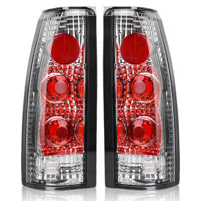 (Tail Lights for 1988-1998 Chevy GMC C/K 1500 2500 3500 Chrome Clear Rear Lamps)