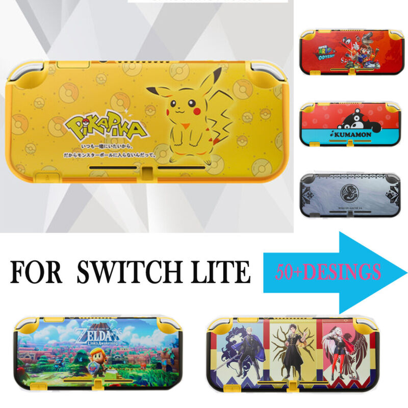 Switch Lite Case Protective Shell Color Cover Grip Case Free 9H Screen Protector