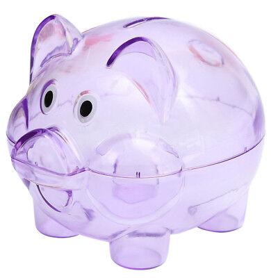 Clear Plastic Piggy Bank (Cute Plastic Pig Clear Piggy Bank Coin Box Money Cash Saving Case Kids Toy)