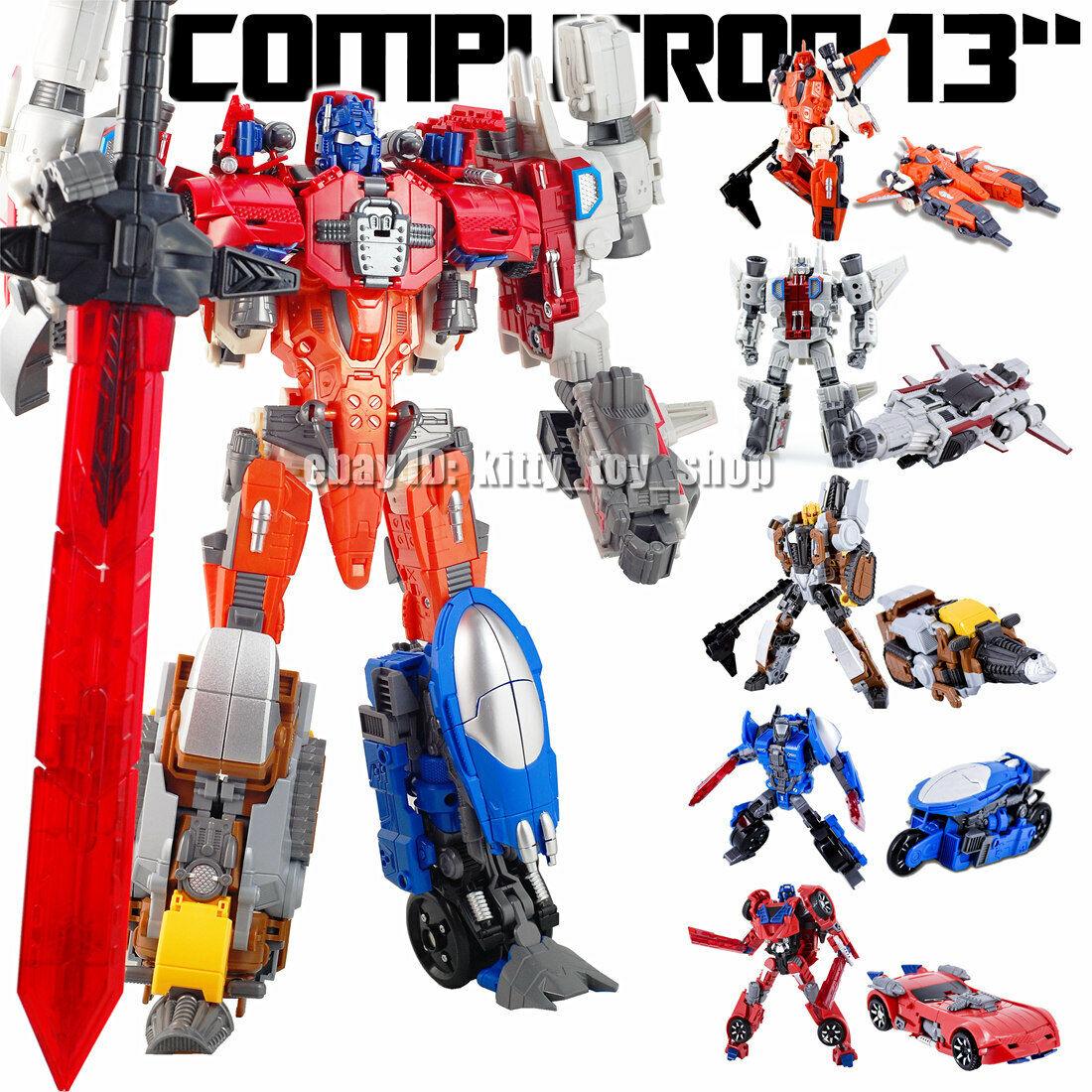 New in stock WJ Transform Computron Wars Robots 6 in 1 Combiner Action Figure