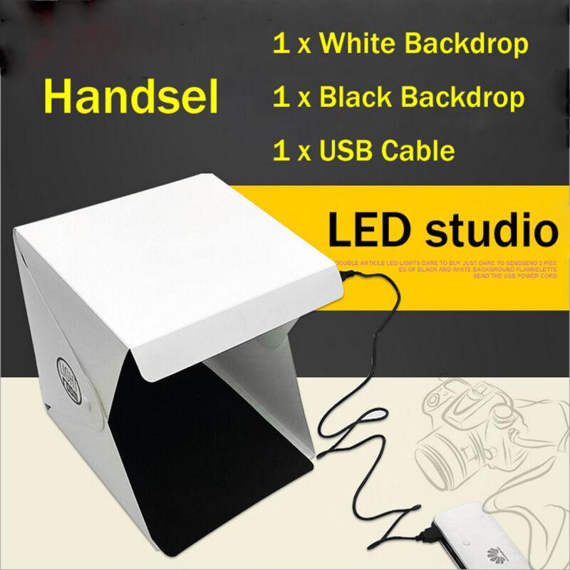 LED Foldable Portable Photo Mini Light Box Studio Tent Home Photography Lights