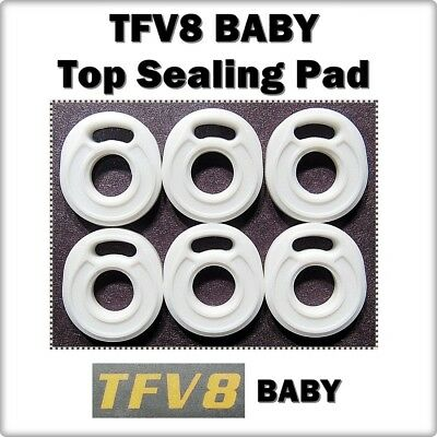 6 - TFV8 Baby BEAST Top Sealing Base Pad ORings ( ORing O-Ring smok Seals )