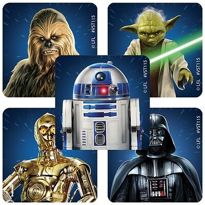 25 Star Wars Classic  Stickers Party Favors Teacher Supply Yoda Darth Vadar R2D2