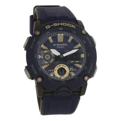 Casio G-Shock Mens Blue & Grey Analog-Digital Chronograph Quartz Watch GA2000-2A