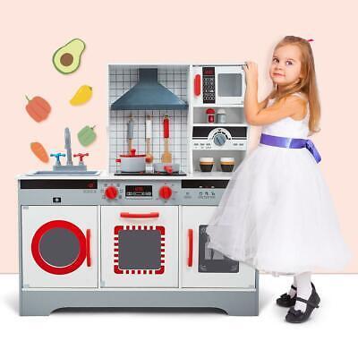 Kids Wooden Kitchen SetCooking Pretend Play Toy Children Playset Christmas Gift