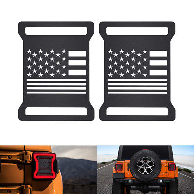 Tail Light Cover Rear Lamp Guard Accessories For 2018 Jeep Wrangler JL Sport #ya