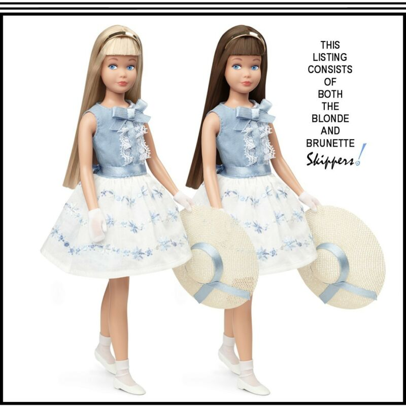 50th Anniversary Blonde And Brunette Skippers For The Adult Collector By Mattel!