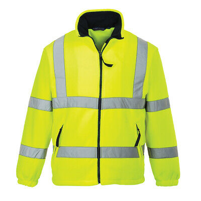 Portwest UF300 Hi-Vis Reflective Safety Polyester Mesh Lined Zipped Fleece -