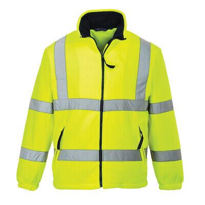 Hi-Vis Fleece Jacket Safety Lined ANSI Class 3 Reflective Portwest UF300 - Fleece Reflective Jacket