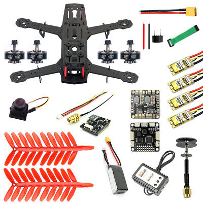 JMT 250 DIY FPV Quadcopter Camera Drone Kit 250MM  11.1V 1500MAH 40C Battery