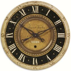 French Country Parisian Wall Clock Auguste Verdier Weathered 27 Uttermost 06028
