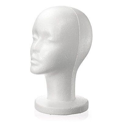 Fashion Female White Foam Styrofoam Mannequin Hat Cap Dummy Wig Head J3o3