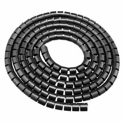 20mm Flexible Spirale Kabelschlauch Umhüllung Computer Organizer Draht3M Schwarz