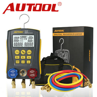 Refrigeration Digital Gauge Meter Hvac Vacuum Pressure Temperature Tester Kit