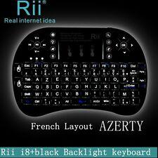 Rii Mini i8+ Wireless AZERTY - Mini Clavier Française Rétro-éclairé Ergonomique