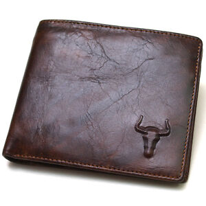 ★New Genuine Leather Mens
