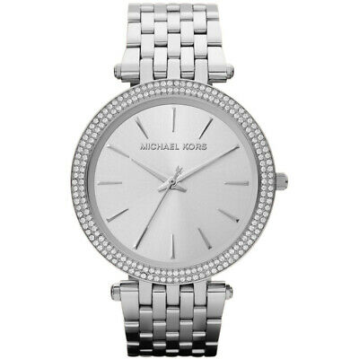MICHAEL KORS MK3190 Darci Silver Dial Pave Bezel Ladies Watch