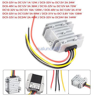 Voltage Reducer Dc Converter Regulator Dc 8v-40v To 24v 6a 144w Step Updown