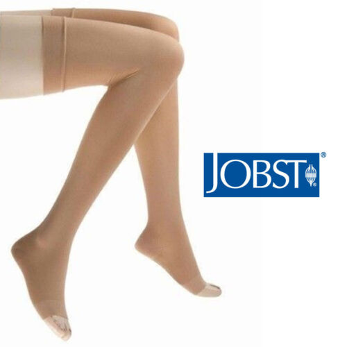 как выглядит Jobst Relief Stockings 15-20 mmHg Thigh Compression Therapeutic Open Toe Socks фото
