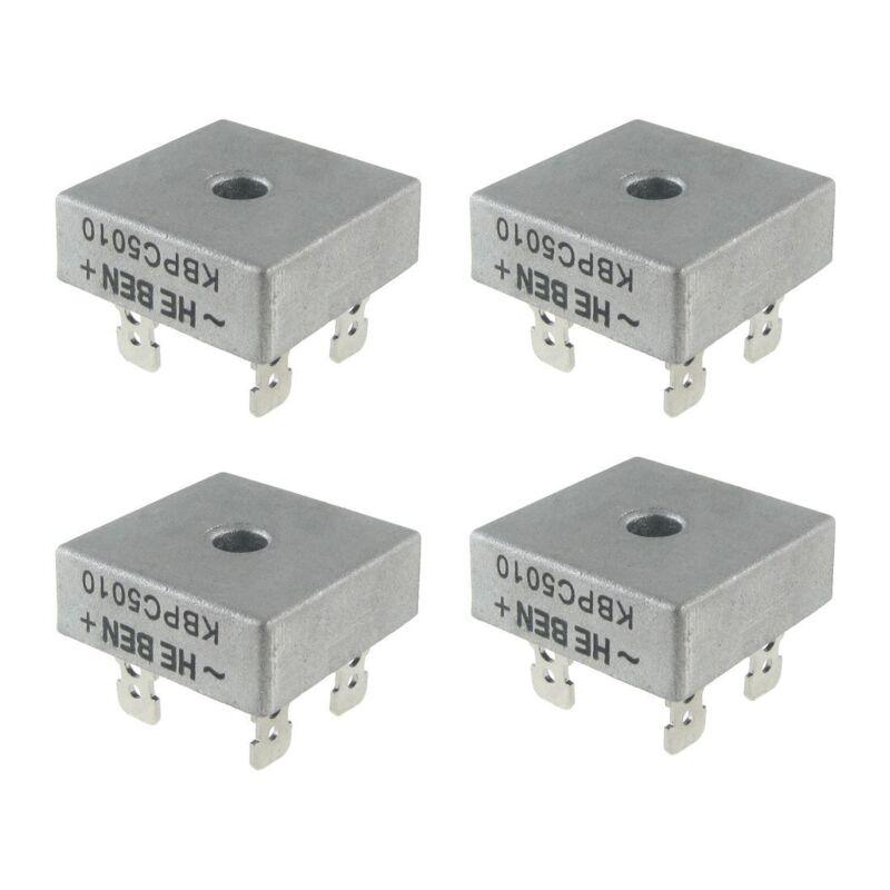 4X 50A 1000V Metal Case Single Phases Diode Bridge Rectifier KBPC5010 T7U9