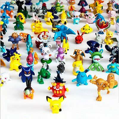 Generic 1 Complete Set Pokemon Action Figures (144 Piece)