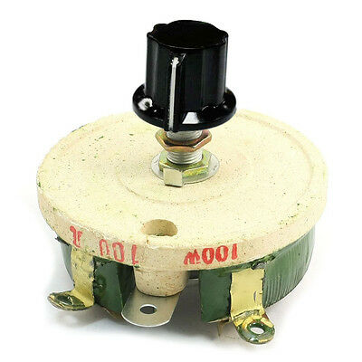 100w 100 Ohm Ceramic Wirewound Potentiometer Rotary Resistor Rheostat Ed