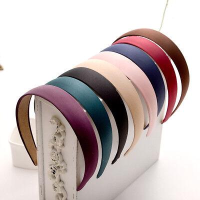 Women Girls Wide Plastic Headband Hair Band Accessory Satin Headwear - Accessory Wholesale