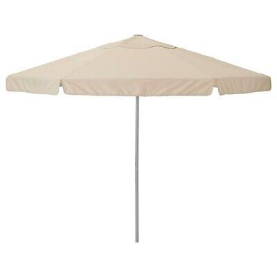 ikea Kuggö parasol in heavy beige canvas. 300mm wide 38mm pole width. Never used