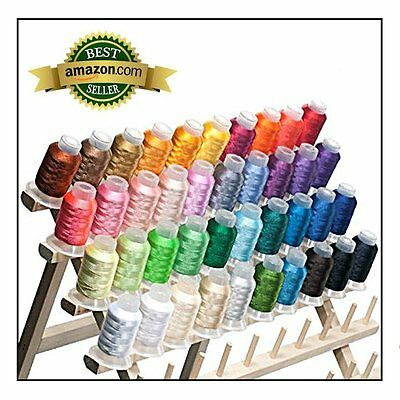 Machine Embroidery Thread Polyester 40 Spools Colors Lot Each Brother New