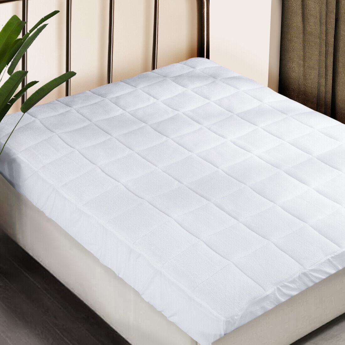 Puredown® Plush Mattress Pad Protector Bed Down Alternative