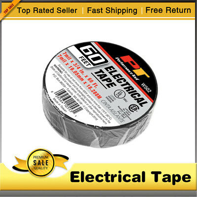 New Electrical Tape Black 34in. X 60 Ft. Insulated Electric 7mil X 19mm X 18m