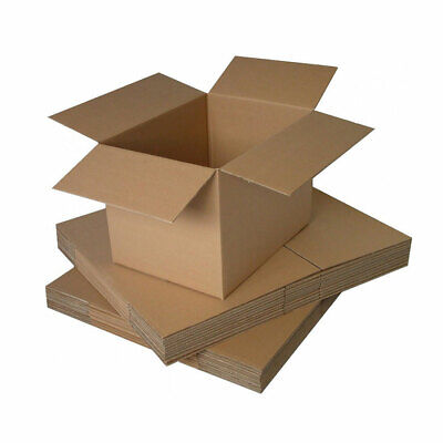 Small Strong Single Wall Cardboard Boxes, 305mm x 229mm x 159mm, Pack of 25