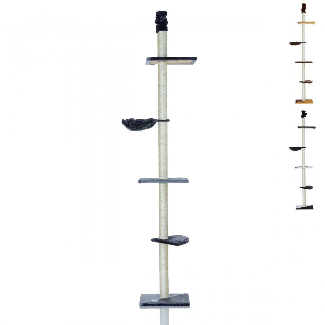 Katzenkratzbaum Katzenbaum Deckenhoch Stabil Kletterbaum Spielturm 240-270 cm✔ 8,5 cm Dicke Säulen ✔ Robust & Stabil ✔ Platzsparend