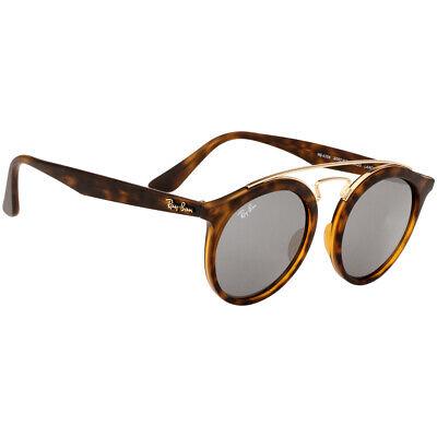 Rayban Propionate Frame Grey Mirror Lens Unisex Sunglasses (Propionate Plastic)
