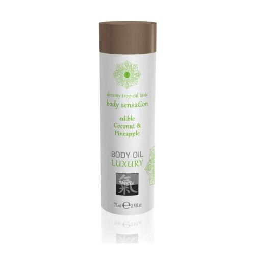 Shiatsu Massage-Öl Kokos Annanas Aroma 75ml Erotik Partnermassage eßbar Öle
