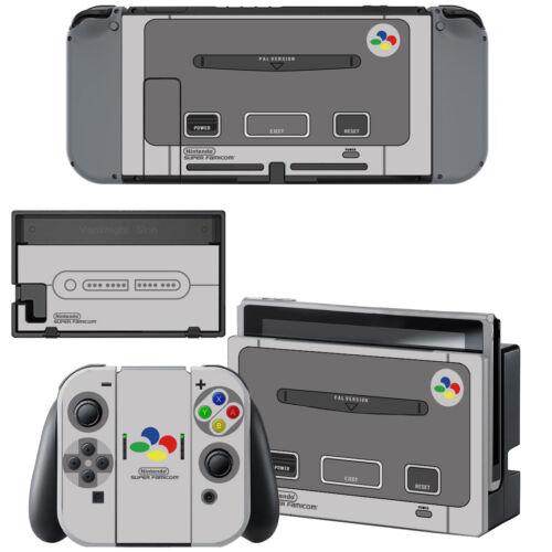 Nintendo Switch Console Joy-Con Skin Super NES SNES Retro Vinyl Decals Stickers
